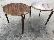 MID CENTURY ROUND TABLES