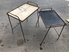 MID CENTURY WROUGHT IRON TABLES