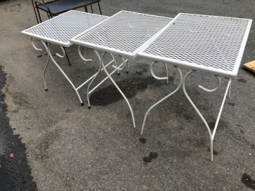 OUTDOOR STACKING TABLES