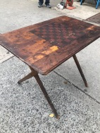 VINTAGE CHECKERS FOLDING TABLE