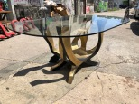 BRASS AND GLASS TABLE 2