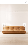 LEATHER URBAN OUTFITTERS SOFA
