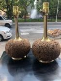 MID CENTURY CORK LAMPS