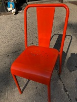 ORANGE INDUSTRIAL CHAIR