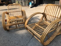 RATTAN LOUNGE CHAIRS
