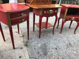 RED SMALL TABLES