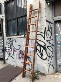 VINTAGE WOOD LOFT LADDER
