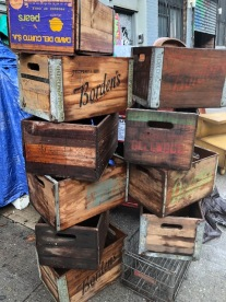 WOOD MILK CRATES