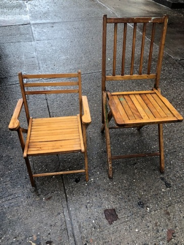 WOOD SLAT CHAIRS