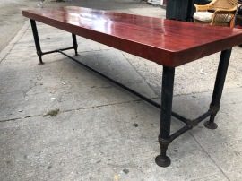 100' 3' THICK BUTCHER BLOCK TABLE