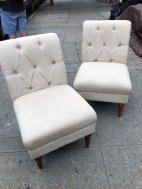 ABBYSON SLIPPER CHAIRS 2