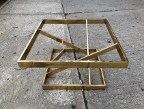 BRASS COFFEE TABLE BASE