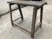 INDUSTRIAL WORK BENCH 46X42X37 TALL 15 INCH DEEP TOP X46 2