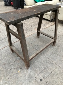 INDUSTRIAL WORK BENCH 46X42X37 TALL 15 INCH DEEP TOP X46 3