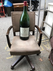 LARGE CHMPAGNE BOTTLE AND NICE OFFICE CHAIR