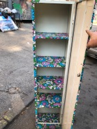 METAL FLOWER CABINET INSIDE