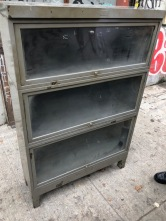 METAL INDUSTRIAL BARRISTER BOOK CASE