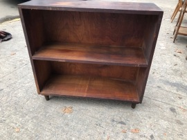 MID CENTURY BOOK SHELF 30X10X28 TALL