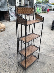 WICKER SHELF UNIT