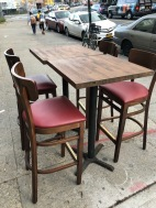 BAR STOOLS AND BAR TOPS