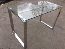 GLASS AND CHROME TABLE 3