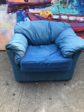 JEANS MATERIAL COMPHY CHAIR