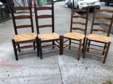 LADDERBACK RUSH CHAIRS