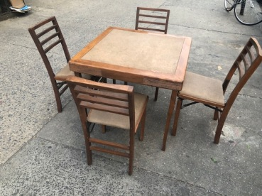 MID CENTURY TABLE AND CHAIR SET