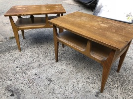 MID CENTURY TABLES ROUGH