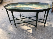 ORIENTAL METAL TABLE