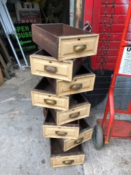 VINTAGE WOOD DRAWERS