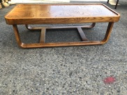 1970S SOLID WOOD COFFEE TABLE