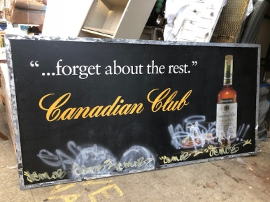 CANADIAN CLUB SIGN 96X47