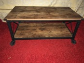INDUSTRIAL COFFEE TABLE CART