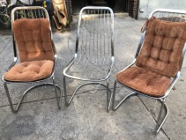 MID CENTURY CHROME CHAIRS