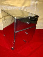 SILVER METAL CABINET