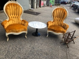 VELVET CHAIRS $125 EA