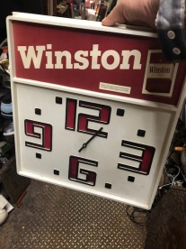 WINSTON ADVERTISING CLOCK $75