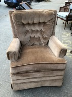 BROWN VELVET CHAIR