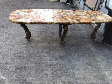 FAUX MARBLE COFFEE TABLE 2