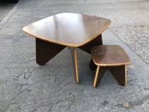 MID CENTURY KIDS TABLE AND CHAIR