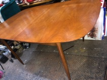 MID CENTURY WOOD DINING TABLE