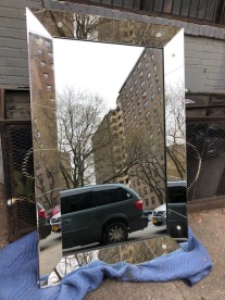 LARGE ART DECO MIRROR