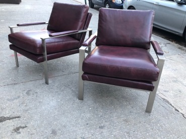 MIDCENTURY LEATHER LOUNGE CHAIRS