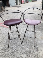 UMANOFF WROUGHT IRON STOOLS