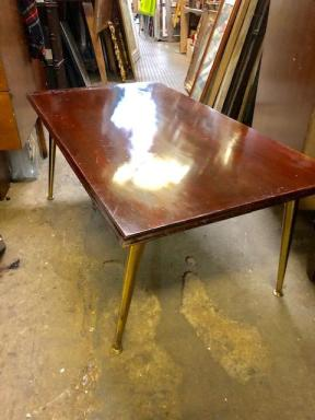 brass leg coffee table