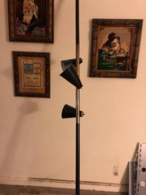 mid century pole lamp