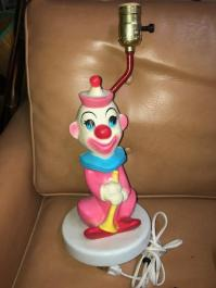vintage clown lamp