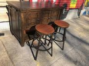 BAR WITH 2 STOOLS $150