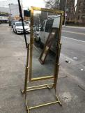 FREESTANDING BRASS MIRROR
